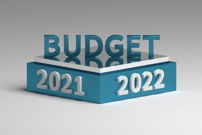 Budget concept for year 2021 and 2022 years