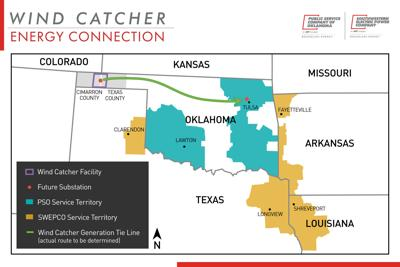 Oklahoma Wind Map.Swepco S Proposed Wind Catcher Project To Bring Billions In Energy