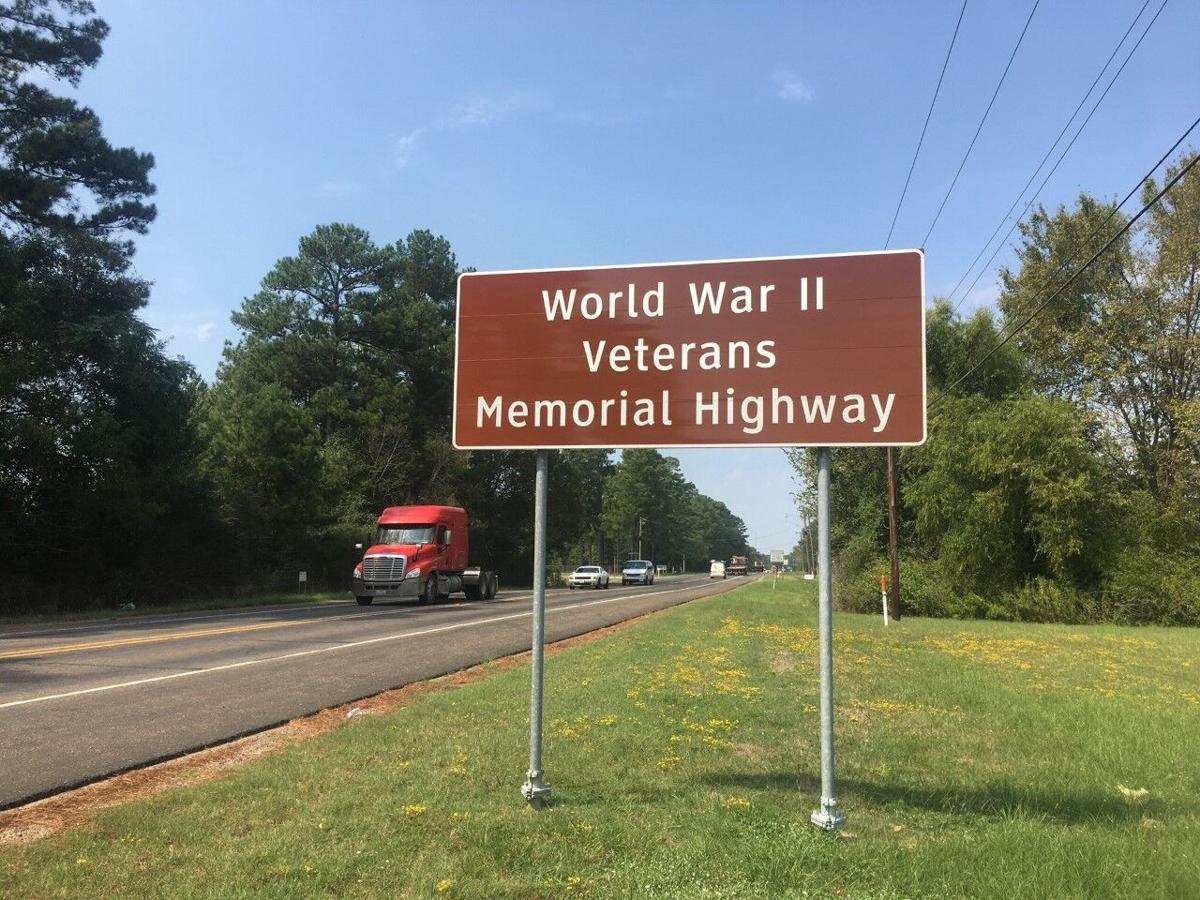 Waskom WWII vet sign 2019