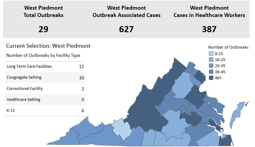 Death toll from COVID-19 reaches 120 in West Piedmont ...