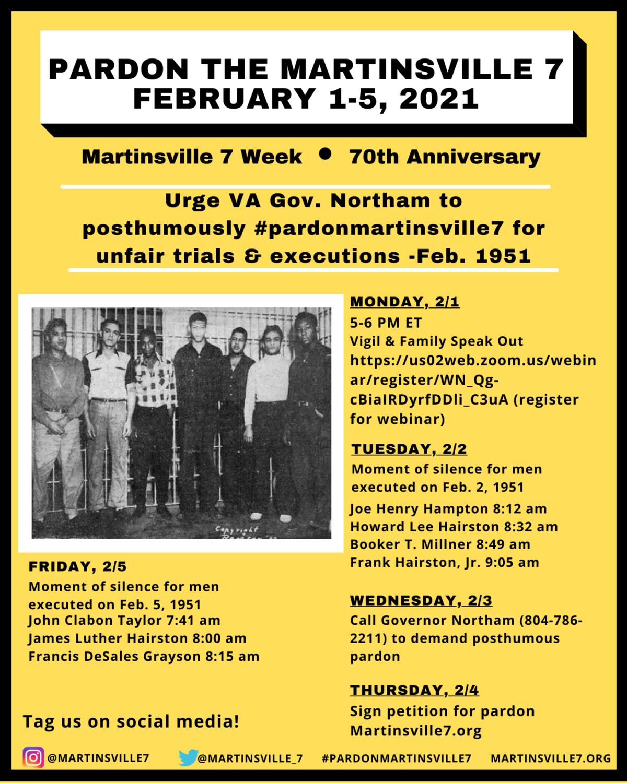 Martinesville Seven flyer