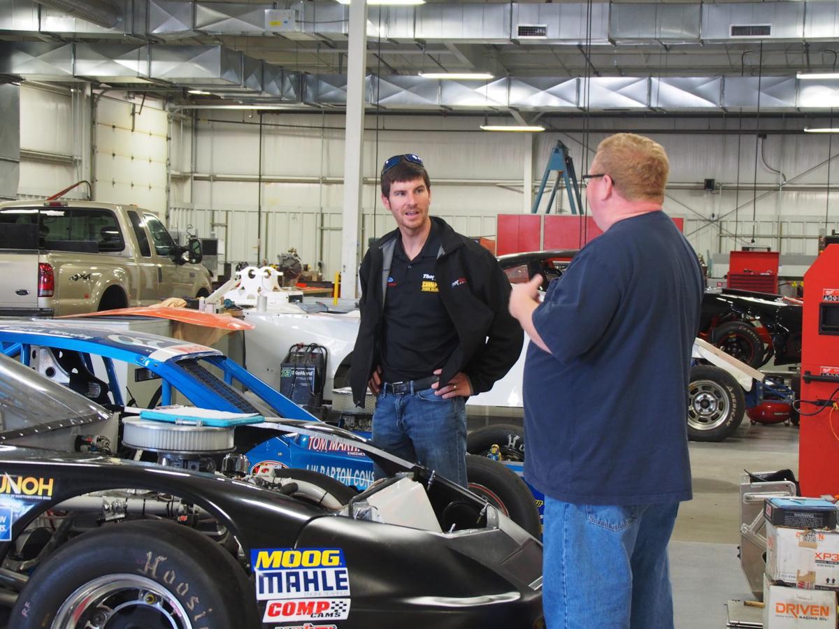 Grant Enfinger with instructor