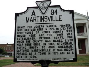 Martinsville Virginia historic marker