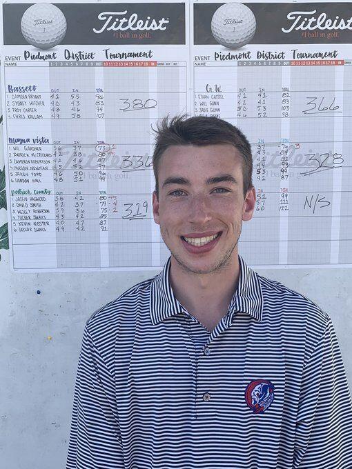 Magna Vista senior Wil Gardner - Piedmont District golf tournament champion