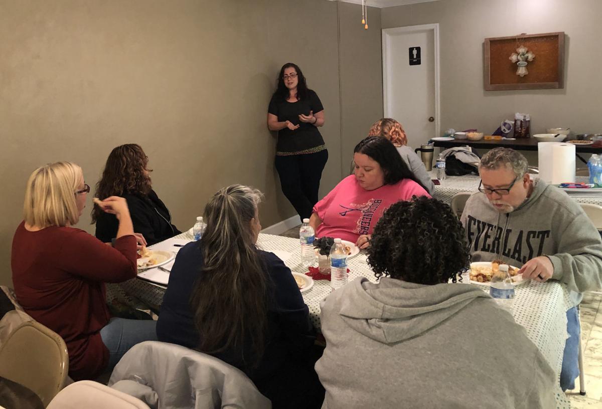 Alisha Neal talks to group