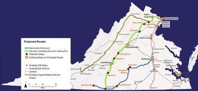 Virginia Breeze route