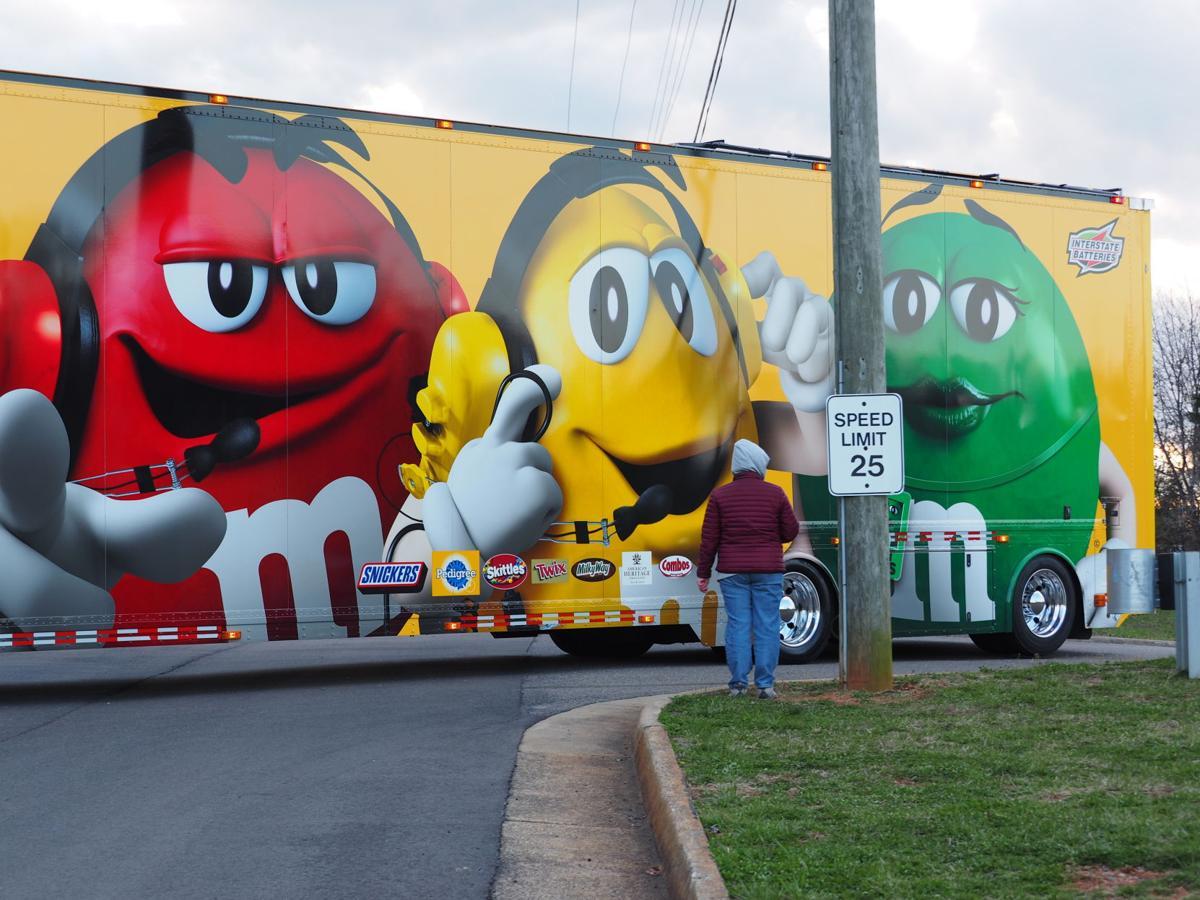 NASCAR Cup Series haulers enter Martinsville Speedway