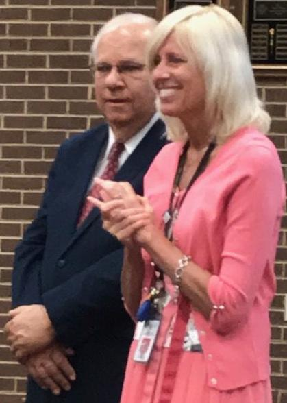 Henry County School Board Chairman Francis Zehr and Superintendent Sandy Strayer