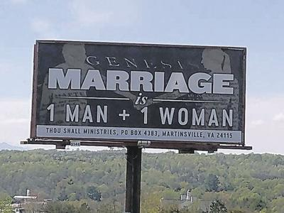 Anti-gay marriage billboard