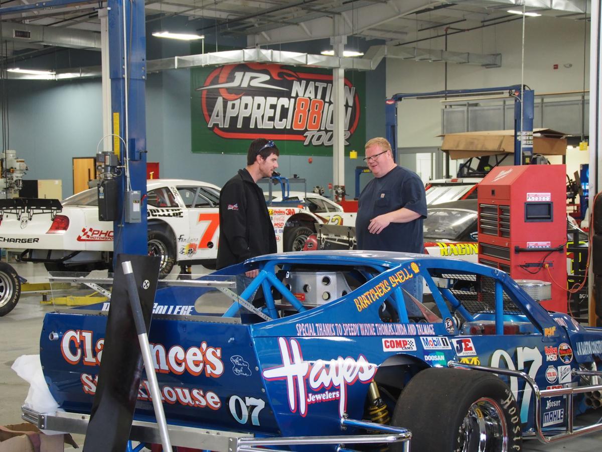 Grant enfinger with racer
