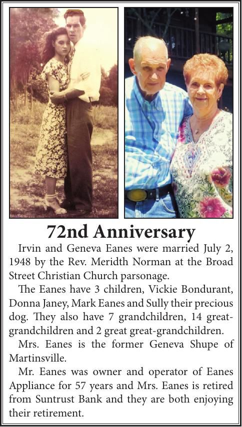 72nd ANNIVERSARY-EANES