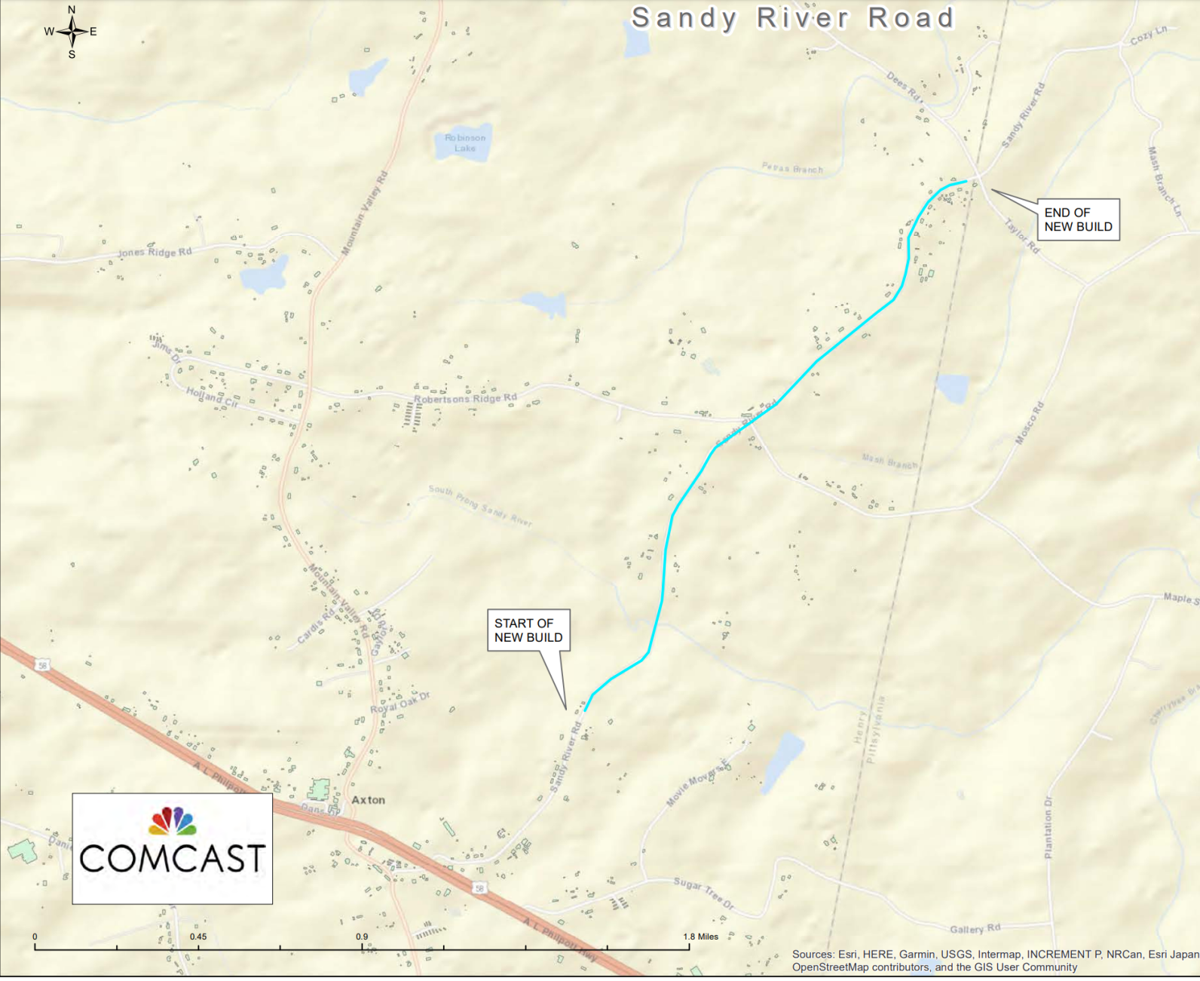 Comcast service expansion in Henry County