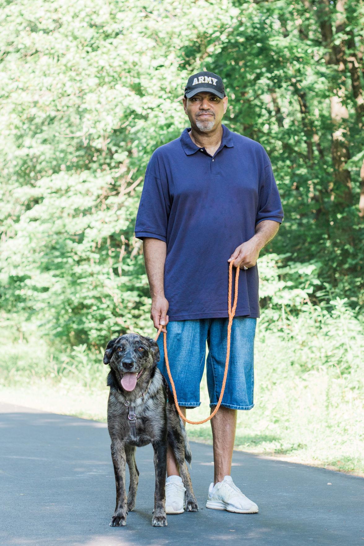 Veteran and dog