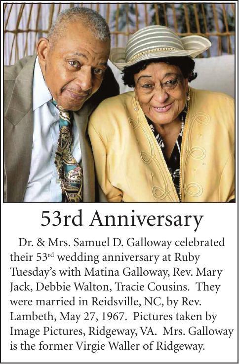 53rd ANNIVERSARY-GALLOWAY