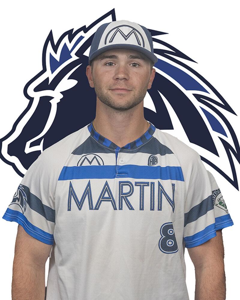 Martinsville Mustangs outfielder Will Knight