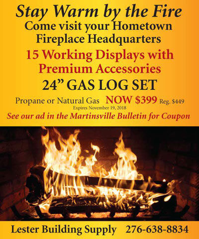 Lester Building Supply - Stay Warm by the Fire