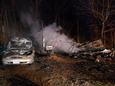 Two hospitalized with minor injuries after fire destroys mobile home on church on fire, nursing home fire, grill fire, trailer fire, motor home fire, roseville home fire, forest fire, people on fire, dwelling fire, mobile fire rescue department, motorcycle fire, commercial fire, flat fire, recreational fire, mobile fire rescue training, tipi fire, apartment fire, maine home fire, restaurant fire,