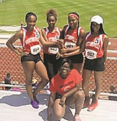 Martinsville girls 4x100 meter relay state champions