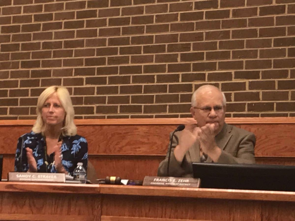 school board -- Sandy Strayer and Francis Zehr