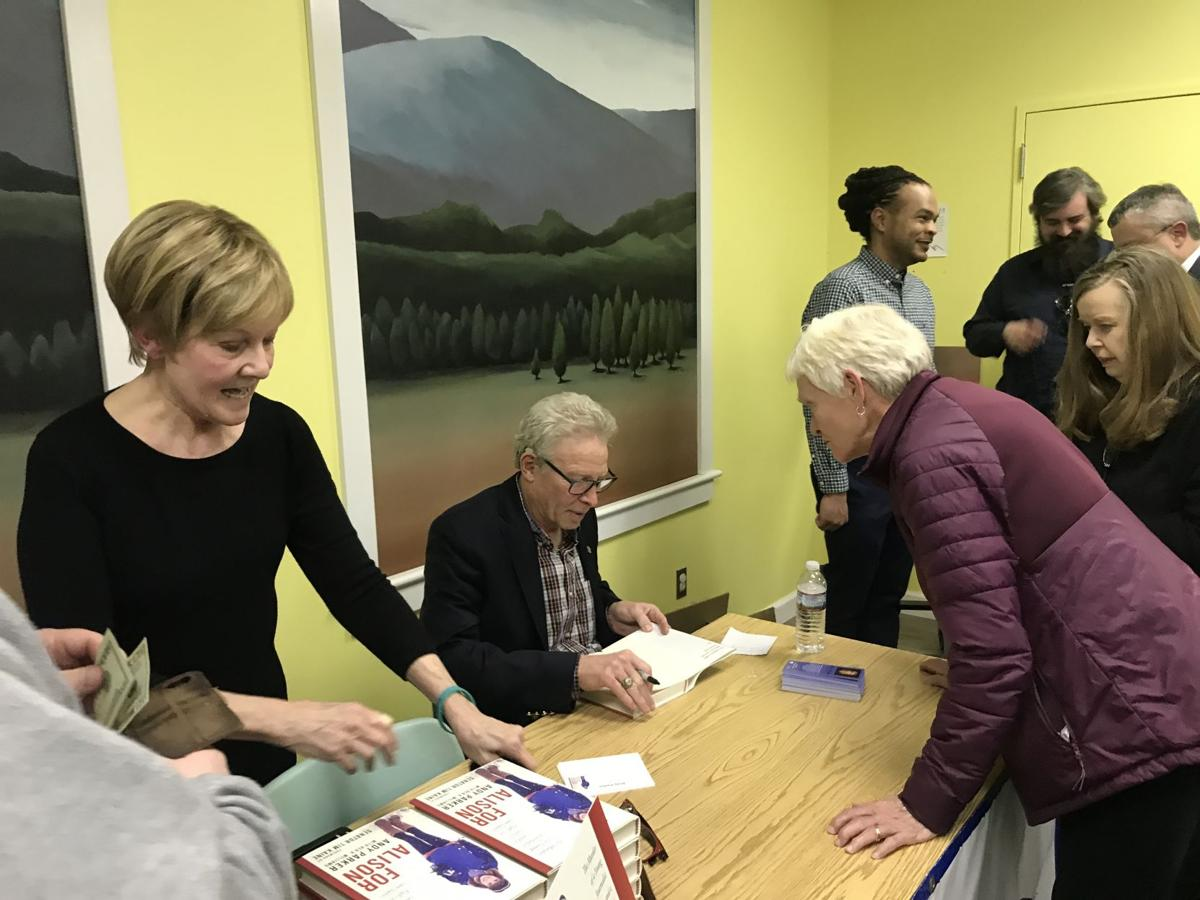 Andy Parker signs books