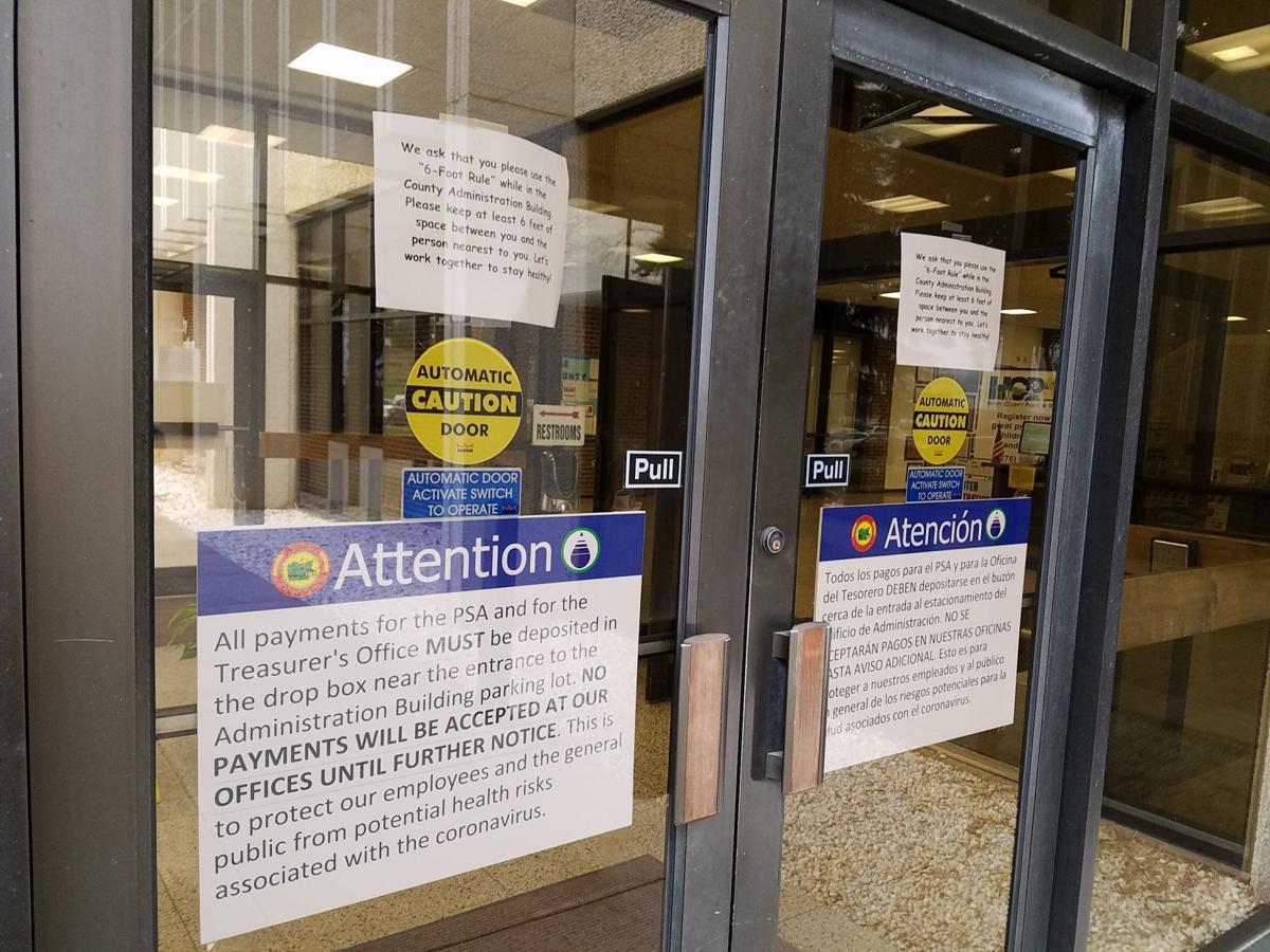 Coronovirus signs in county