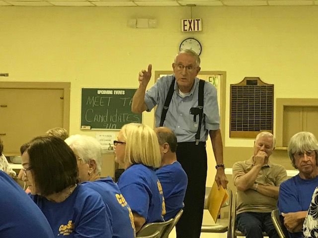 Mike Seidle at sheriff's meet-and-greet