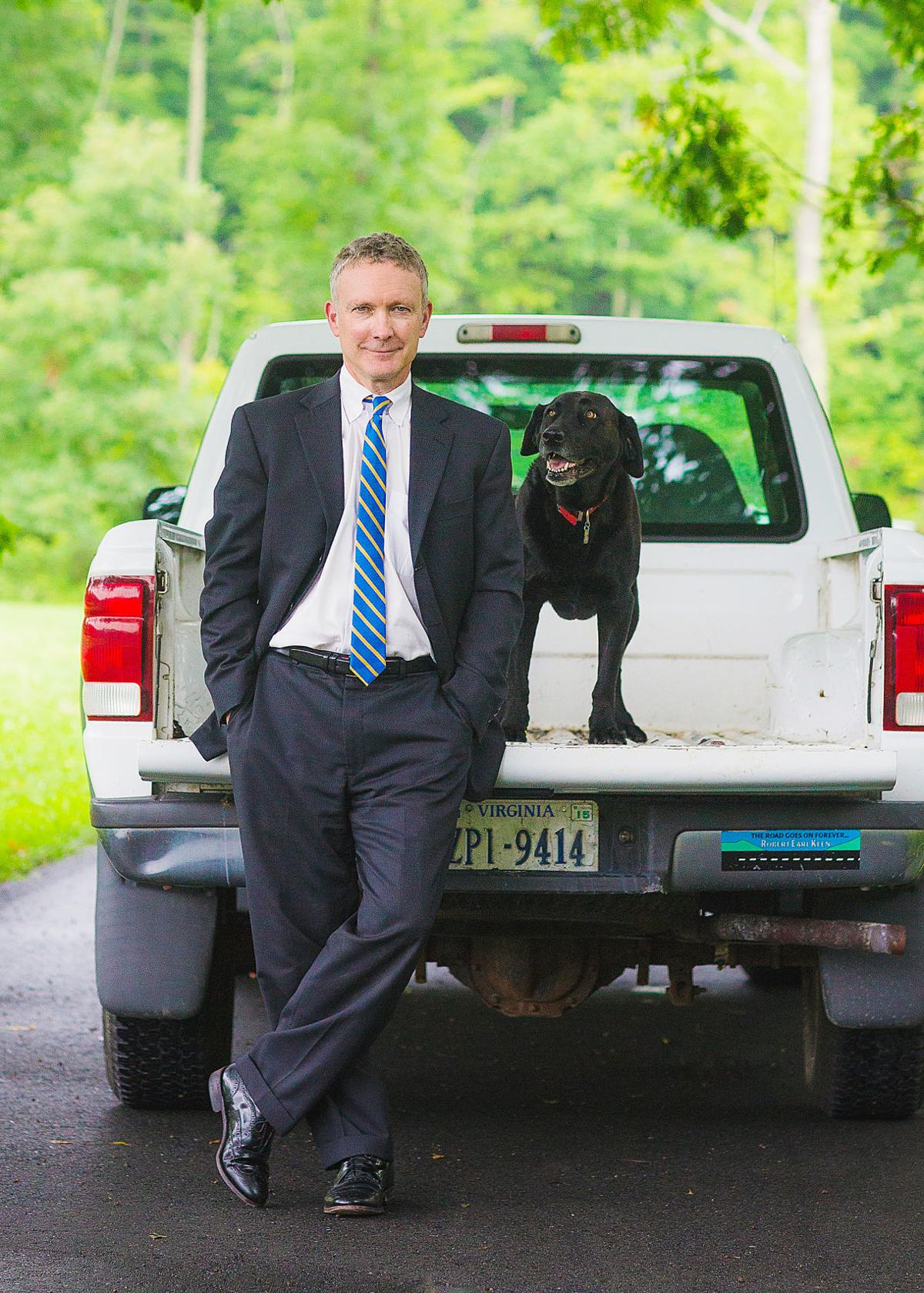 Martin and dog