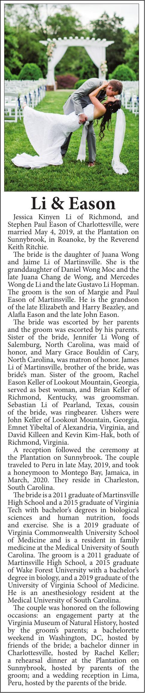 WEDDING-  LI-EASON