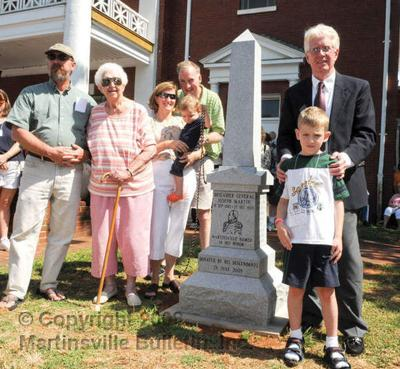 Monument placed in Martin's honor