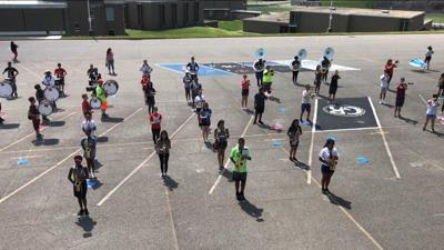 Martinsville band practices in summer