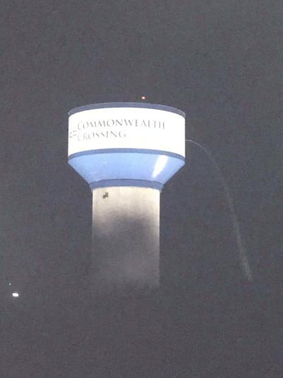 Commonwealth Crossing water tower springs leak