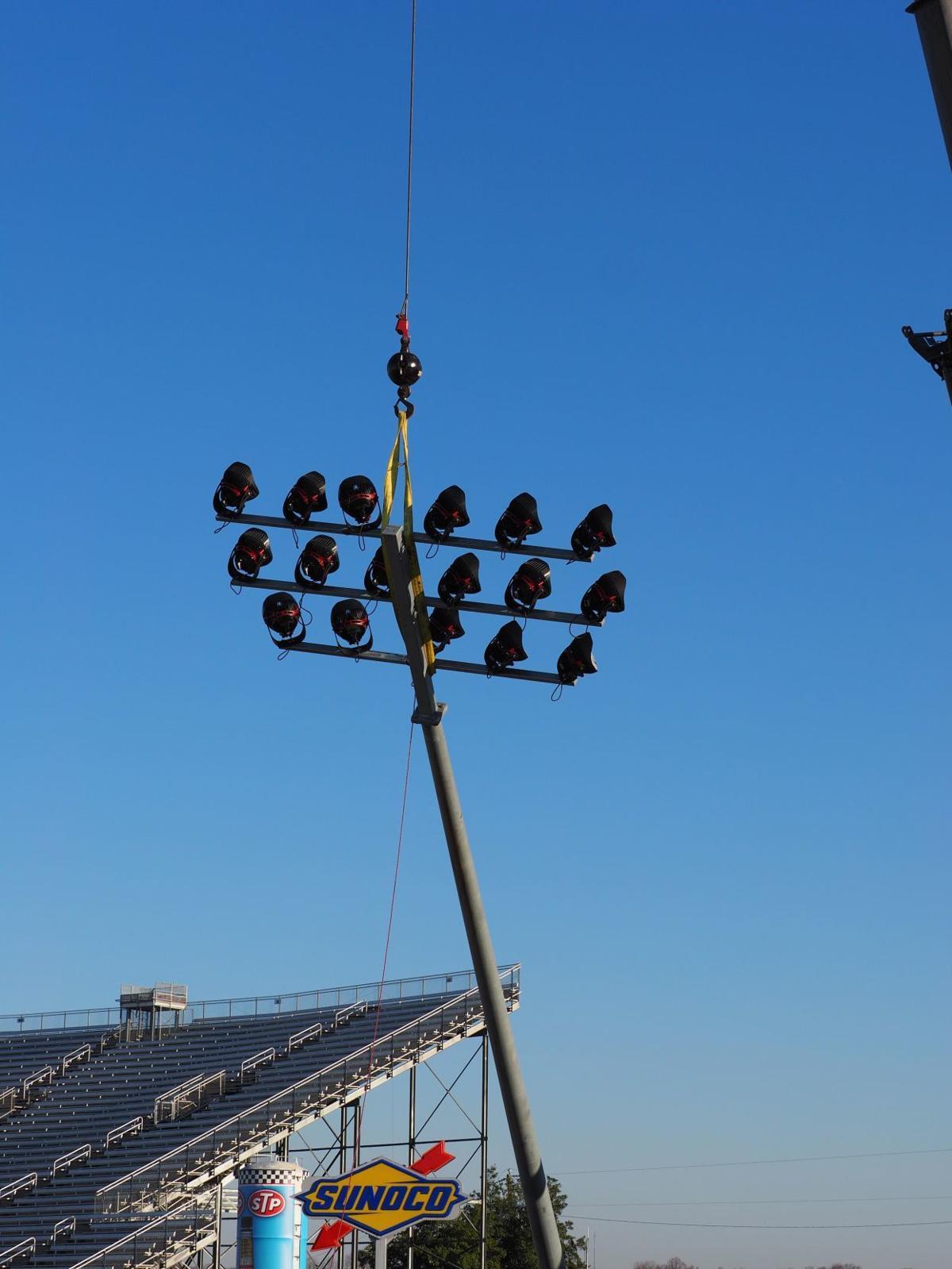 Lights installed at the Martinsville Speedway