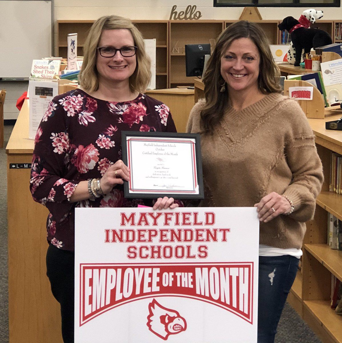 Board recognizes month's top employees