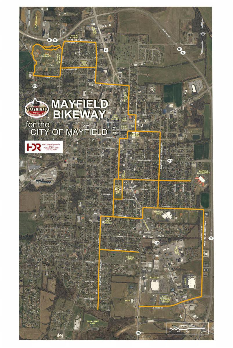 Mayfield Bikeway Bicycles, cars to share lanes for most of route
