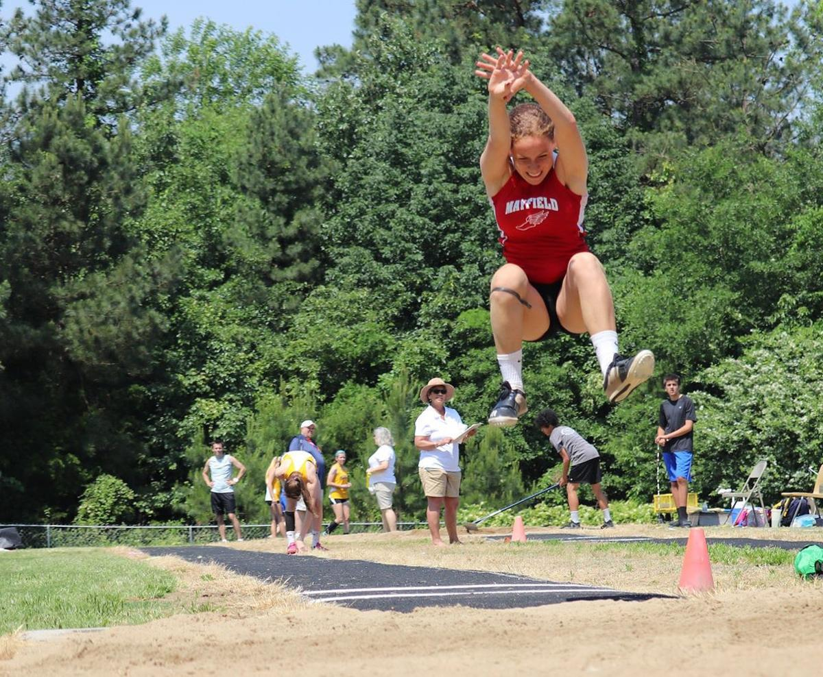 Jaden Whitehead jumps for first place