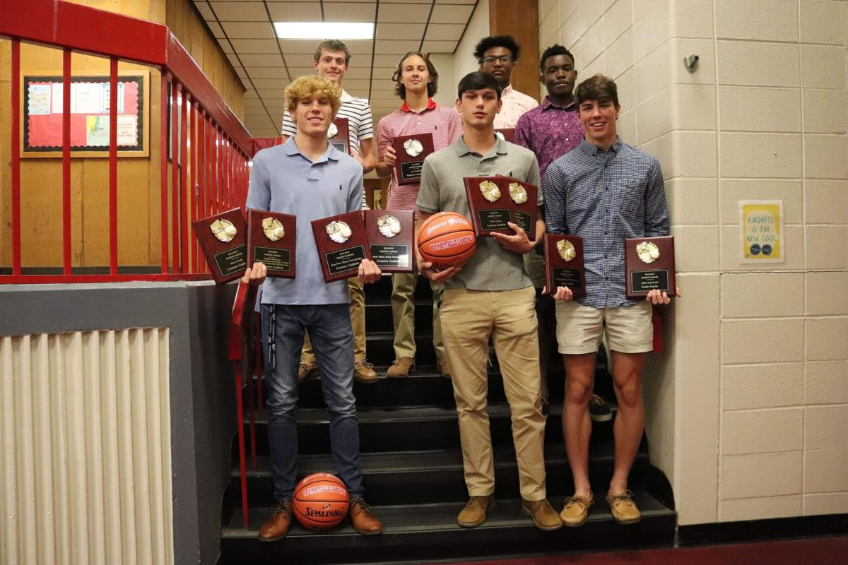Mayfield Cardinal basketball award winners
