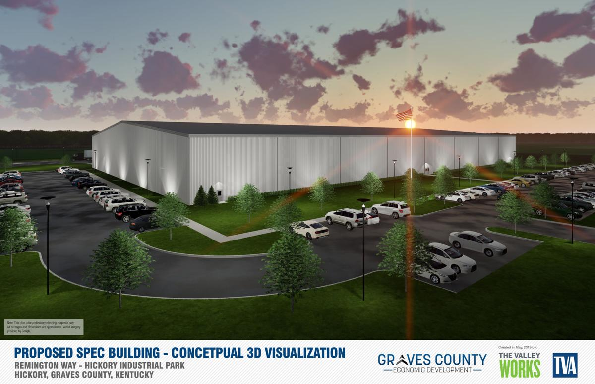 Graves County Economic Development manufacturing spec building rendering