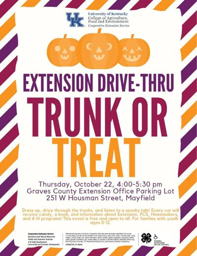Extension office hosting 'Trunk or Treat' Thursday - image