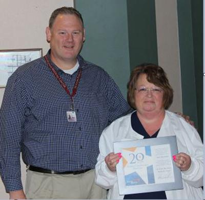 Medical center honors Thompson with Mercy Award