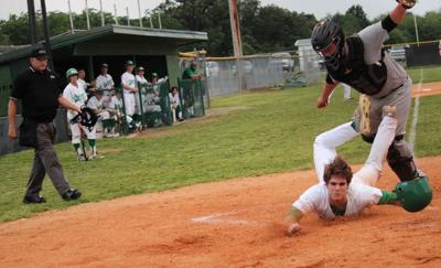 Colin Price gets tag at the plate