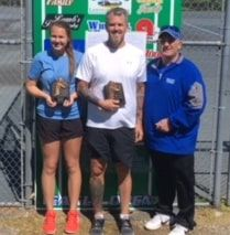 Eagle Open mixed doubles winners