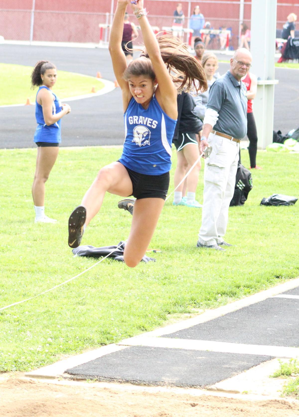 Galloway wins 100M hurdles, long jump, triple jump