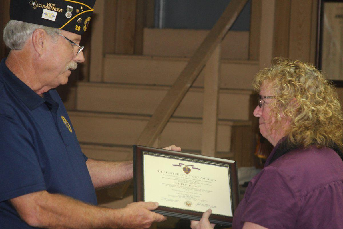 Discovery leads to Purple Heart presentation