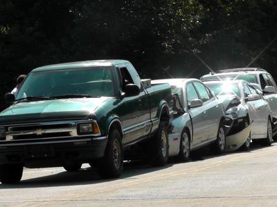 IMAGE: 3 wrecks on McDowell High School Road, no injuries