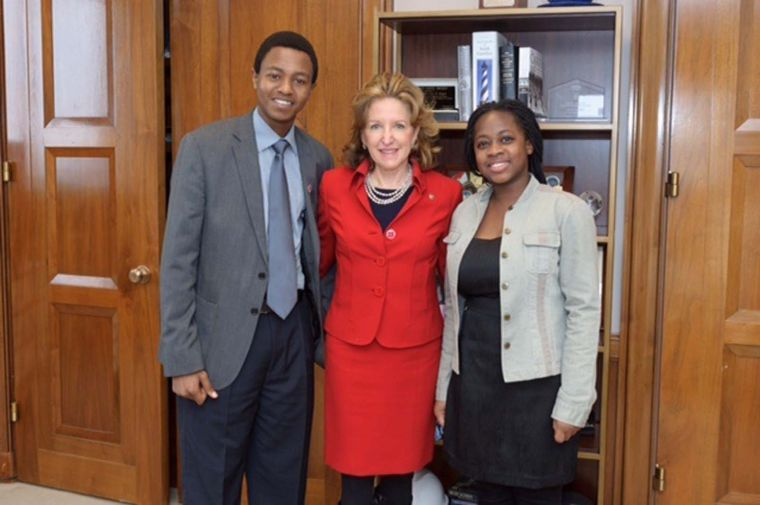 Exchange students visit capital, work with other international students