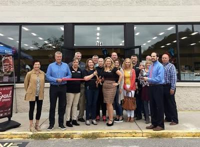 McDowell Chamber cuts ribbon for Shoe Sensation