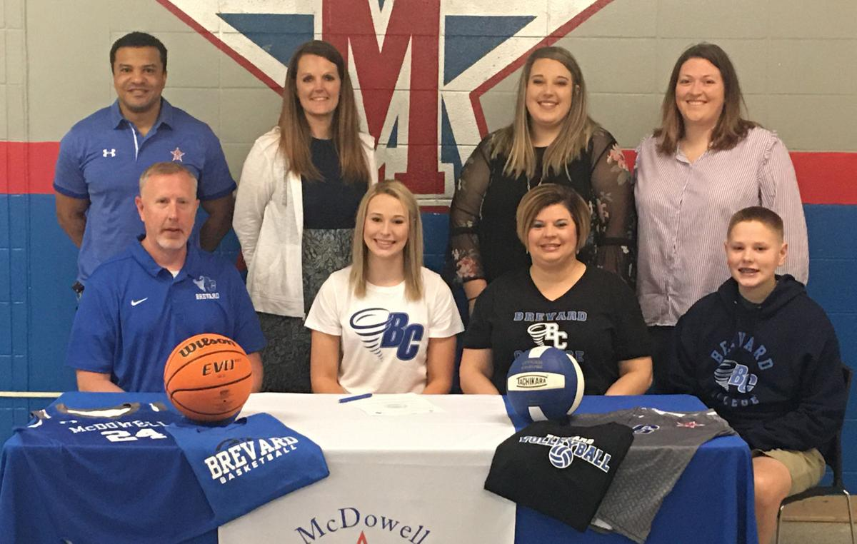 Multiple choice: McDowell's Parkins to play volleyball, basketball at Brevard College