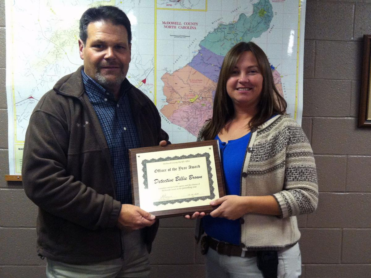 Detective Is Sheriffs Officer Of The Year News Mcdowellnews