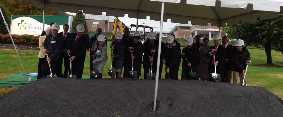 Officials break ground for new McDowell Hospital