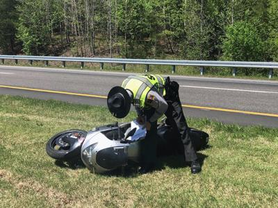 Marion man airlifted after motorcycle crash